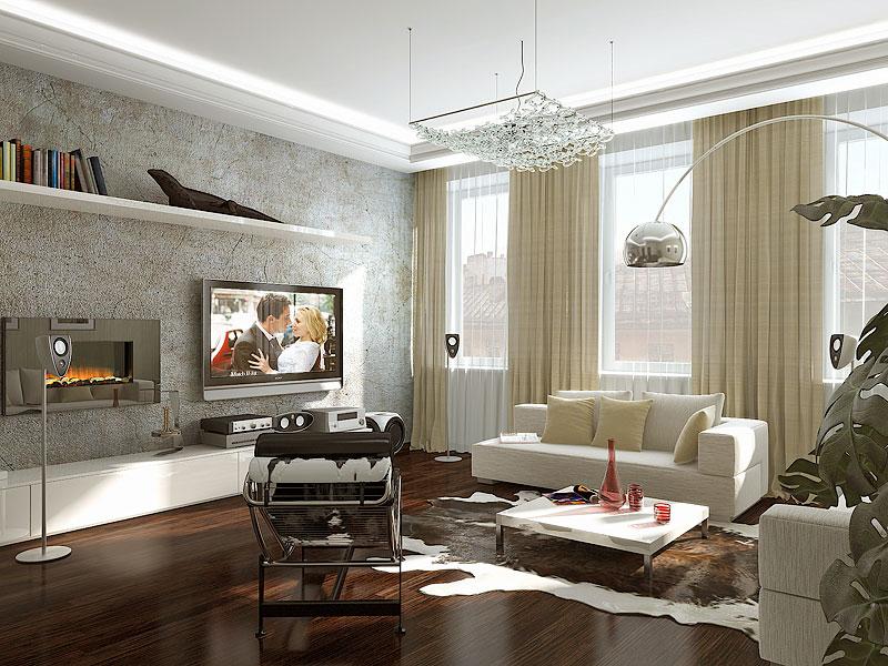 Дизайн гостиной с двумя окнами 17 кв.м фото