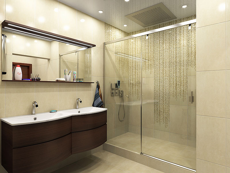 Дизайн ванной комнаты 4 кв.м с душевой кабиной и ванной