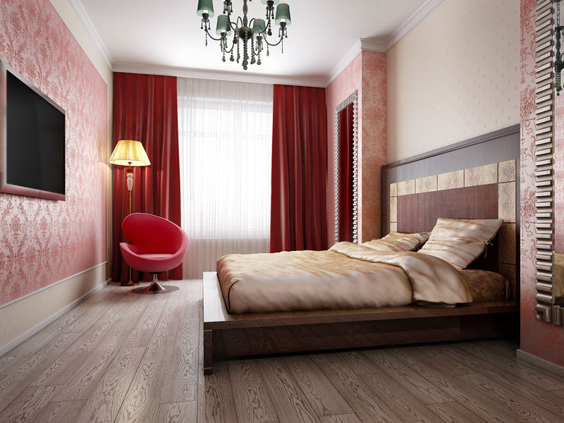 Дизайн светлой спальни 14 м